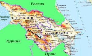 Азербайджан карта