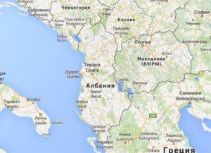 Албания география