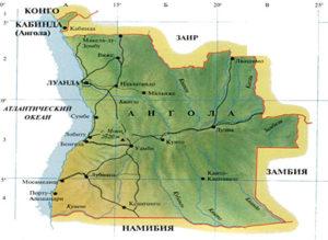 Ангола карта