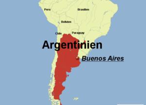 Аргентина карта