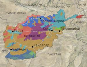 Афганистан карта