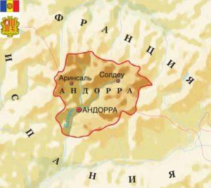 Андорра карта