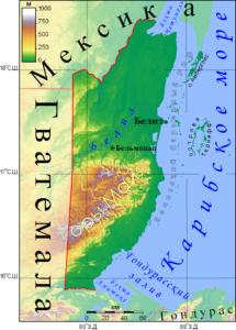 Белиз карта