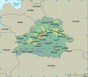 Беларусь карта