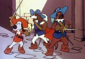 Д'Артаньгав и три пса-мушкетёра - про мультфильм
